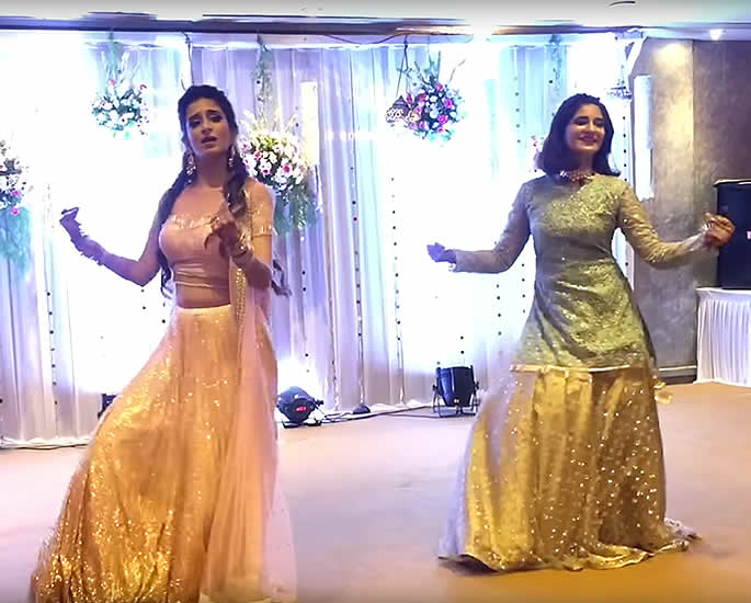 7 Best Sangeet Dance Performances at Desi Weddings - sisters