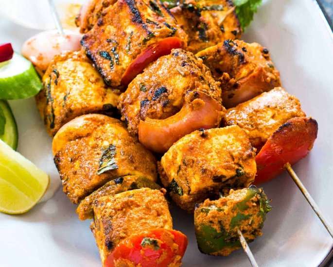 A Desi-style 3 Course meal for Dinner Parties - paneer tikka