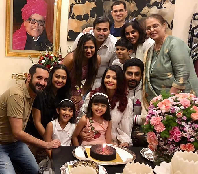 Aishwarya Rai Bachchan celebrates 45th Birthday party