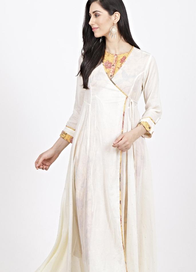 Angrakha Style kurta kurta kurtis - in article