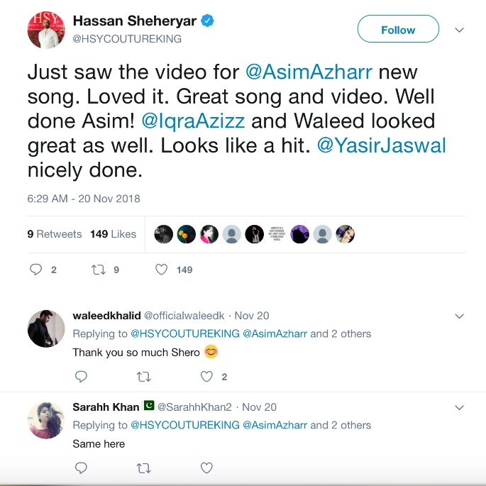 Asim Azhar Releases the Soulful 'Jo Tu Na Mila' in India - Hassan Sheheryar Tweet