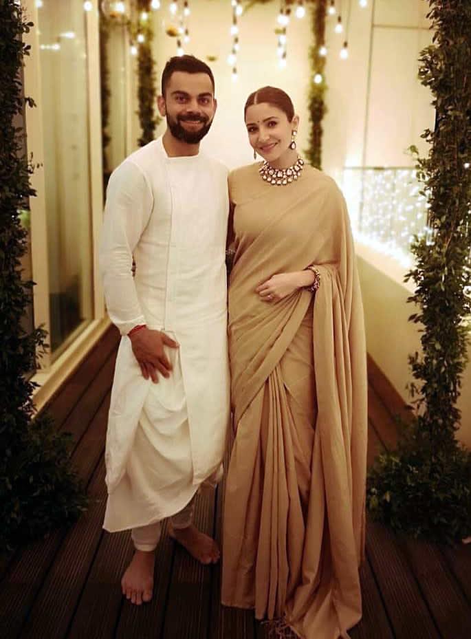 Best Bollywood Diwali Fashion Looks of 2018 - anushka virat