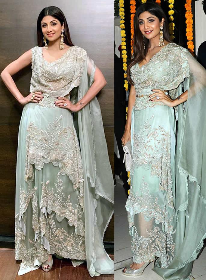 Best Bollywood Diwali Fashion Looks of 2018 - shilpa
