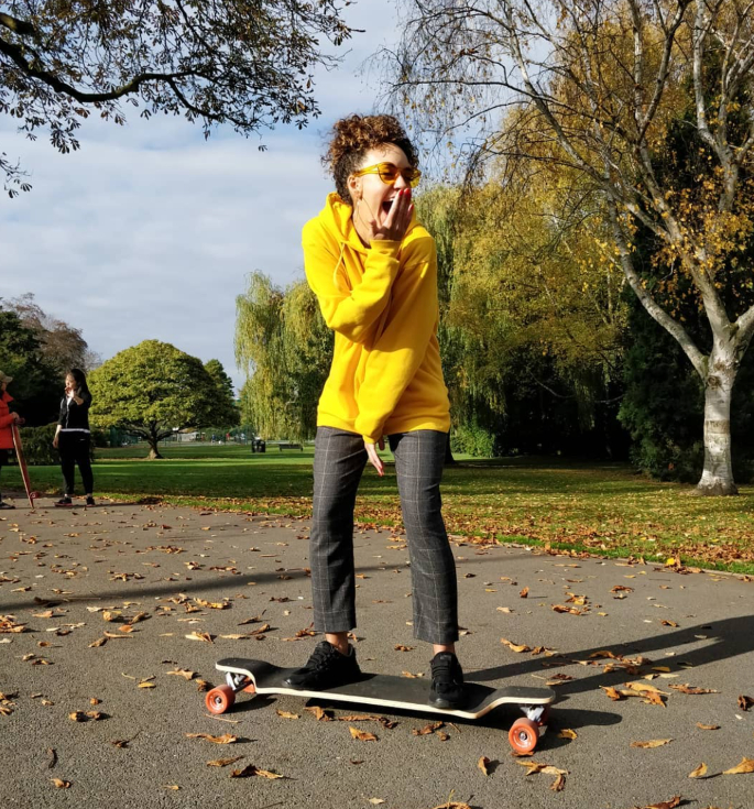 Calling British Asian Girls_ Get Longboarding With GirlDreamer - Sophia Enjoying Longboarding