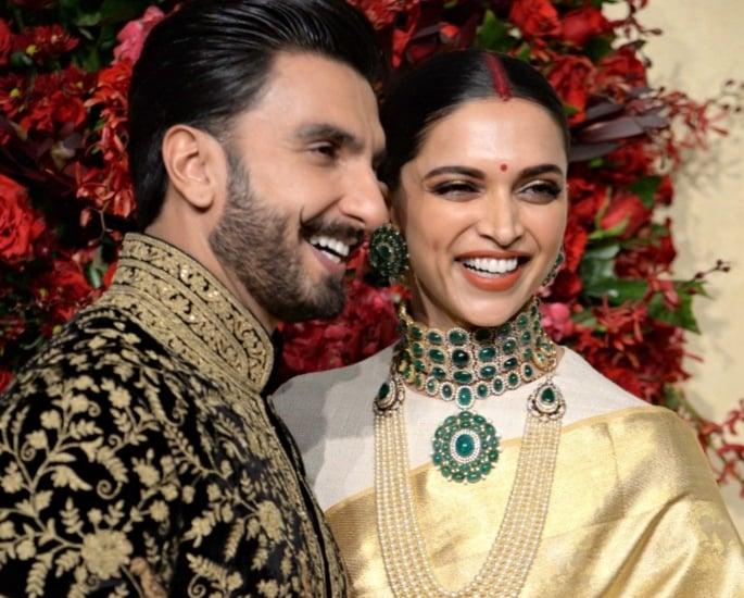 Deepika and Ranveer look stunning for Wedding Reception