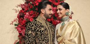 Deepika and Ranveer look stunning for Wedding Reception f