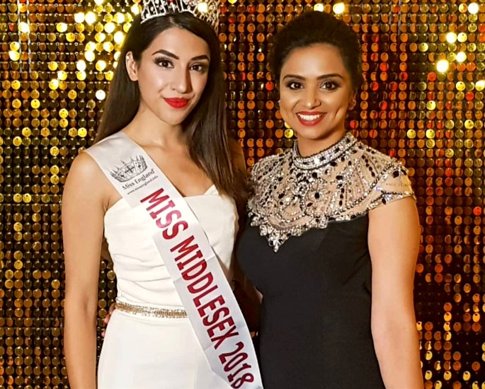 Miss Middlesex Miss India UK -in article