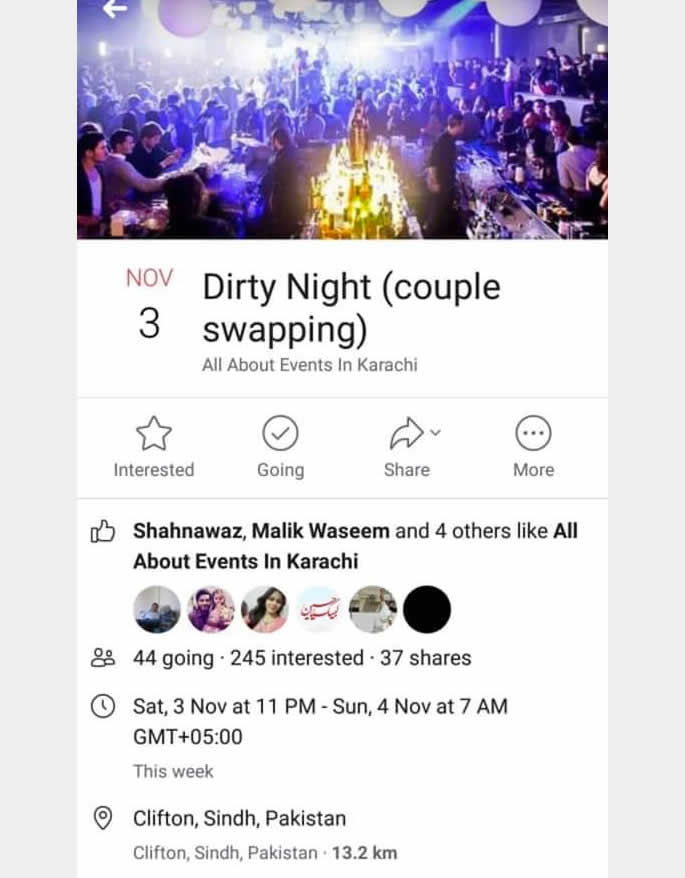 Pakistani Man arrested for Karachi's Dirty Night (couple swapping) ad