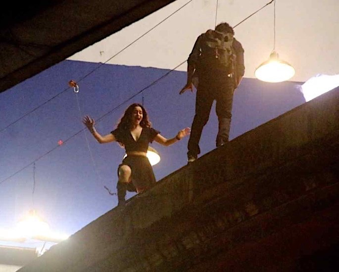 Ranbir Kapoor & Alia Bhatt film crazy stunt for Brahmastra - Ranbir Kapoor Alia Bhatt