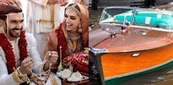 Ranveer & Deepika Sail on Royal Wedding Boat worth Rs 4 Crore