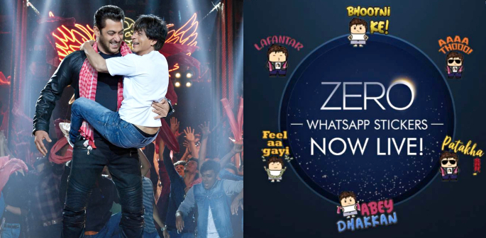 SRK's Zero allows users to Download Stickers on WhatsApp f