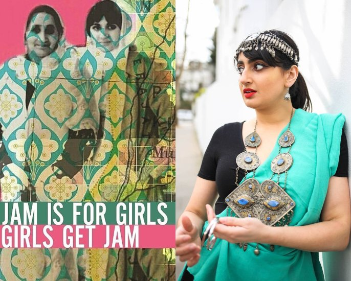 Shagufta K Iqbal talks Spoken Word Poetry and The Yoniverse - Jam Is For Girl Book and Portrait
