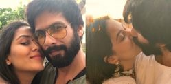 Shahid Kapoor and Mira Rajput celebrate Diwali with a Kiss