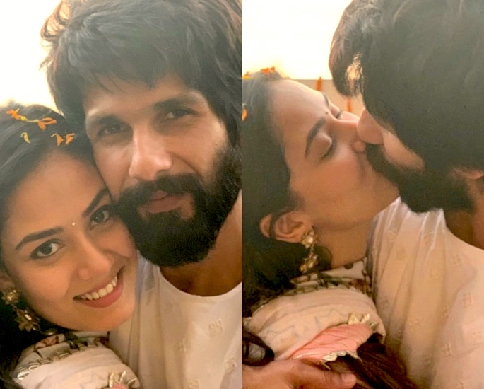 Shahid Kapoor and Mira Kapoor celebrate Diwali with a kiss - shahid Kapoor mira kapoor