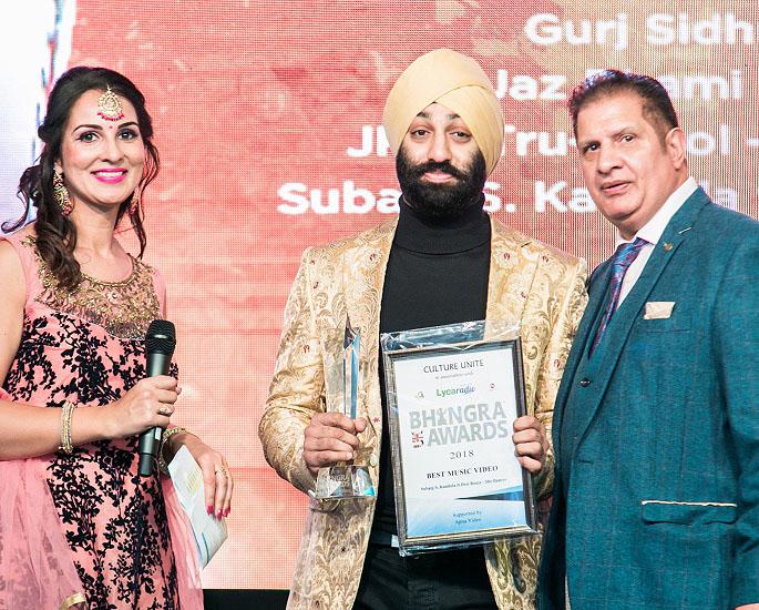 UK Bhangra Awards 2018 Highlights and Winners - subaig singh kandola