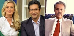 Wasim Akram & Shaniera mock paper for Karachi Mayor Error