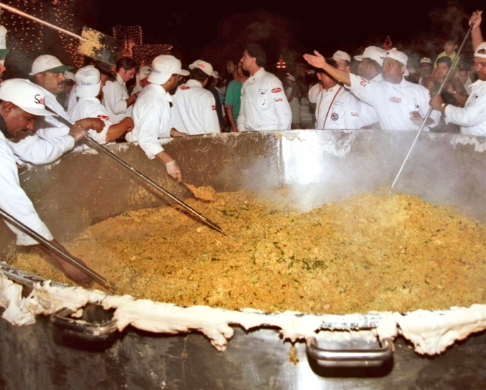World Record Breaking Indian Foods & Drink - biryani