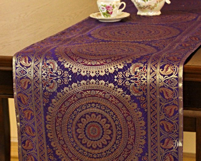 tablerunner 10 ways to add a desi accent to your homeware - in article