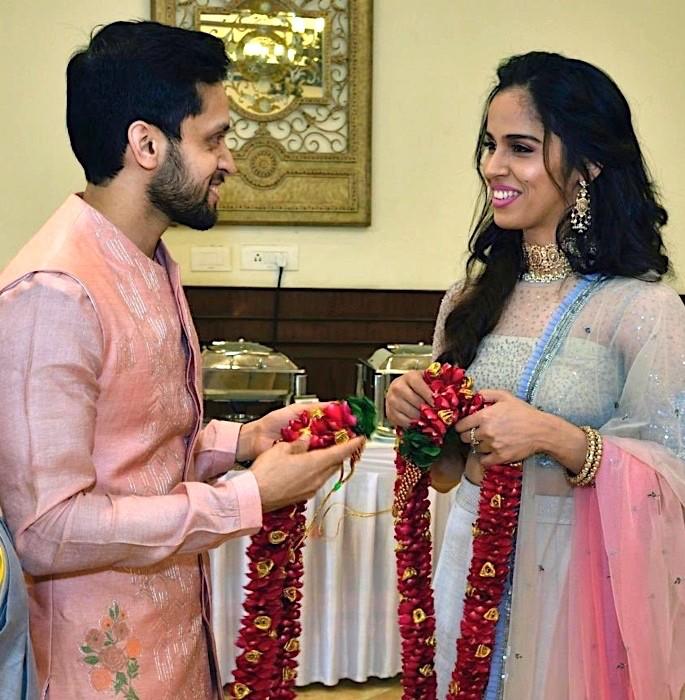 Ace Shuttlers Saina Nehwal & Parupalli Kashyap get married - Saina Nehwal Parupalli Kashyap 1