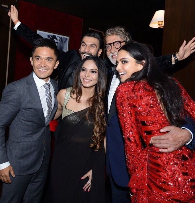 Bachchans groove at Deepika and Ranveer's Bollywood Party - selfie