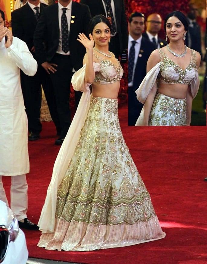 Best Dressed Celebrities at Isha Ambani & Anand Piramal Wedding - Kiara Advani