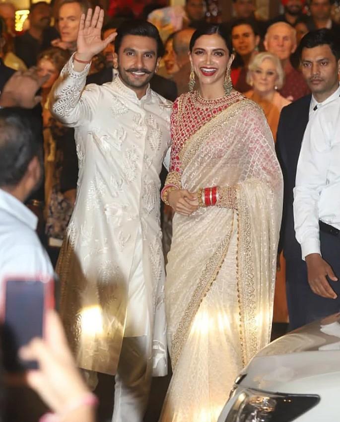 Best Dressed Celebrities at Isha Ambani & Anand Piramal Wedding - Ranveer Deepika
