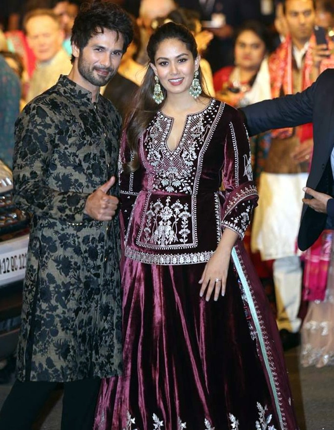 Best Dressed Celebrities at Isha Ambani & Anand Piramal Wedding - Shahid Kapoor wife