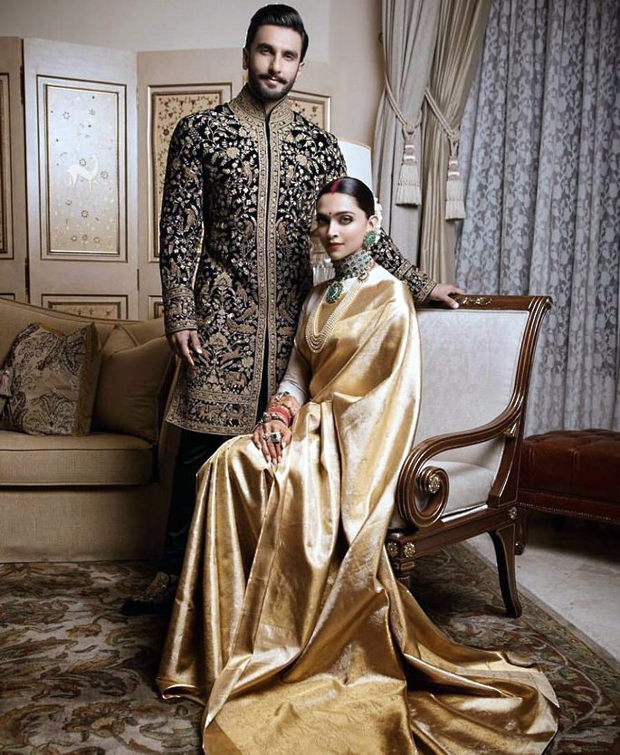 Bollywood Bridal Trends - Priyanka and Deepika - gold