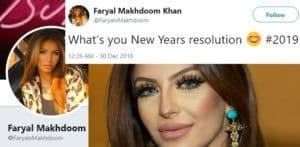 Faryal Makhdoom gets Trolled for New Year's Resolution Tweet f
