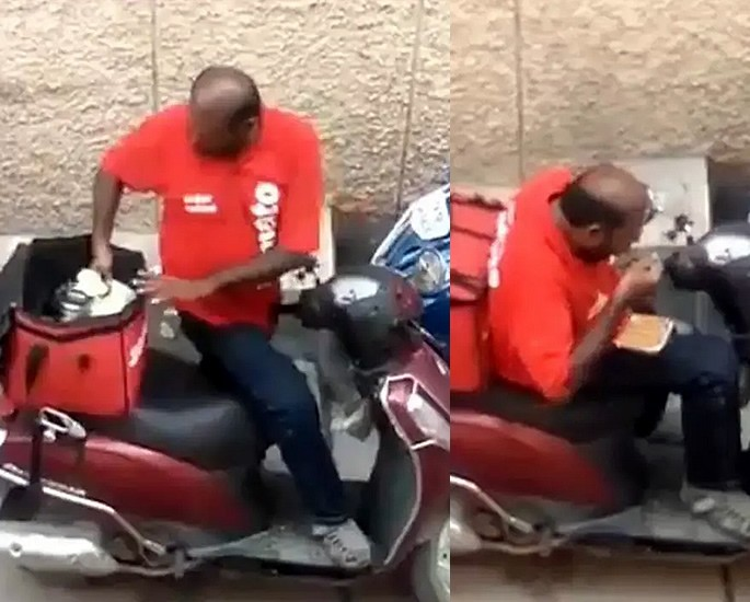 Indian Delivery Man sacked for Eating Client's Food - still