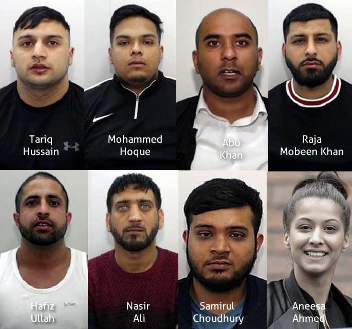 'Kingpin' Mohammed Fazal and Gang jailed for £3m Drug Network - gang