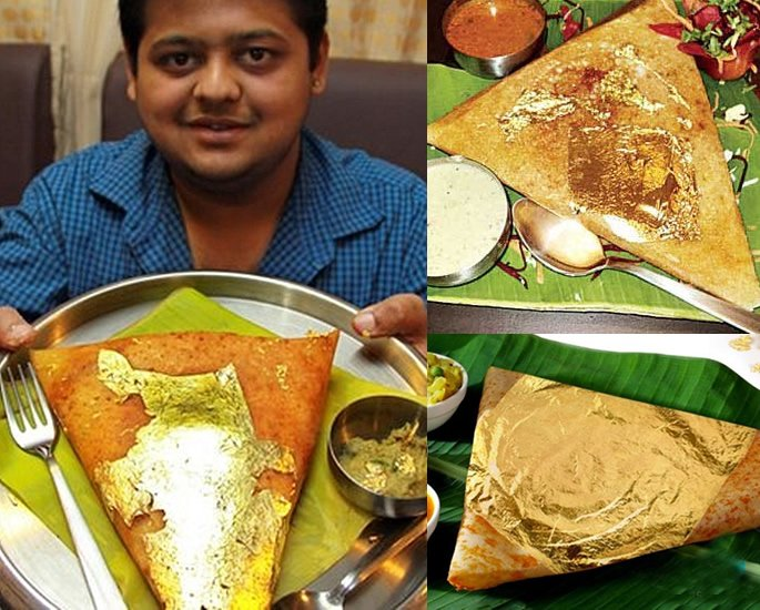 Most Luxurious and Expensive Indian Dishes - gold dosa