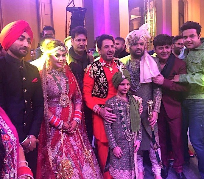 TV Comedy Star Kapil Sharma weds Ginni Chatrath - Ranjit Bawa and Gurdas Maan