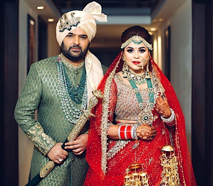 TV Comedy Star Kapil Sharma weds Ginni Chatrath - kapil sharma and ginni chatrath