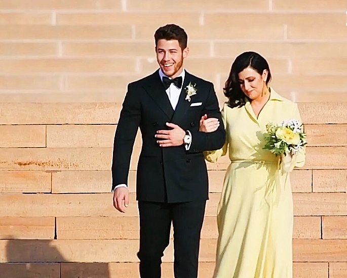 nickyanka wedding - nick and mother - in article