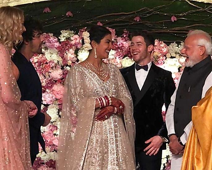 priyanka and nick delhi reception - in article
