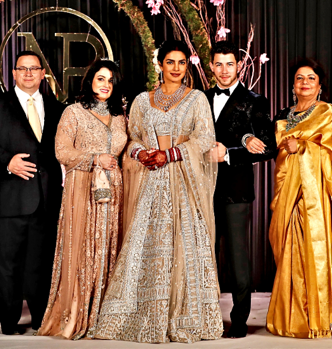 priyanka and nick delhi reception best bollywood bridal looks - in article