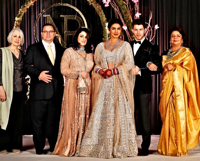 priyanka and nick delhi reception full family - in article