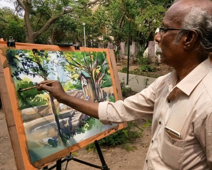 5 Desi Contemporary Painters on Instagram - Sadhu Aliyur