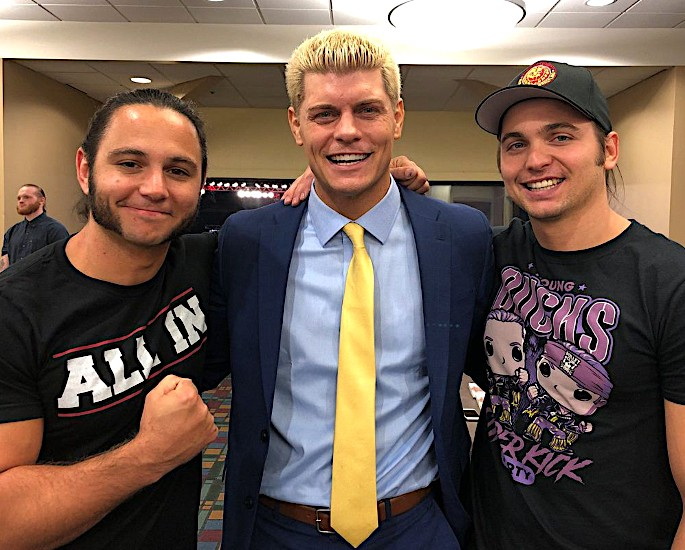 All Elite Wrestling launched by Shahid & Tony Khan - Cody Rhodes and the Young Bucks