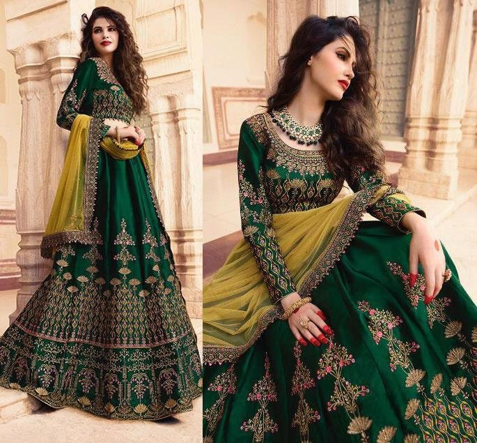 Beautiful Modern Bridal Lehengas for your Wedding - green 1