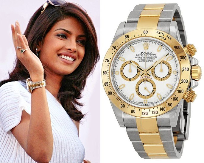 Bollywood Stars who own Rolex Watches - priyanka