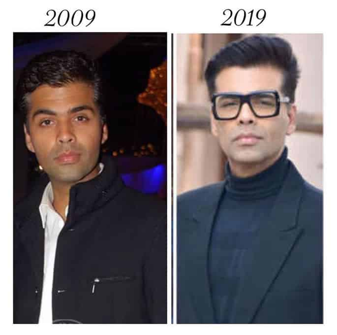 Bollywood Stars who took up the #10yearchallenge - Karan Johar