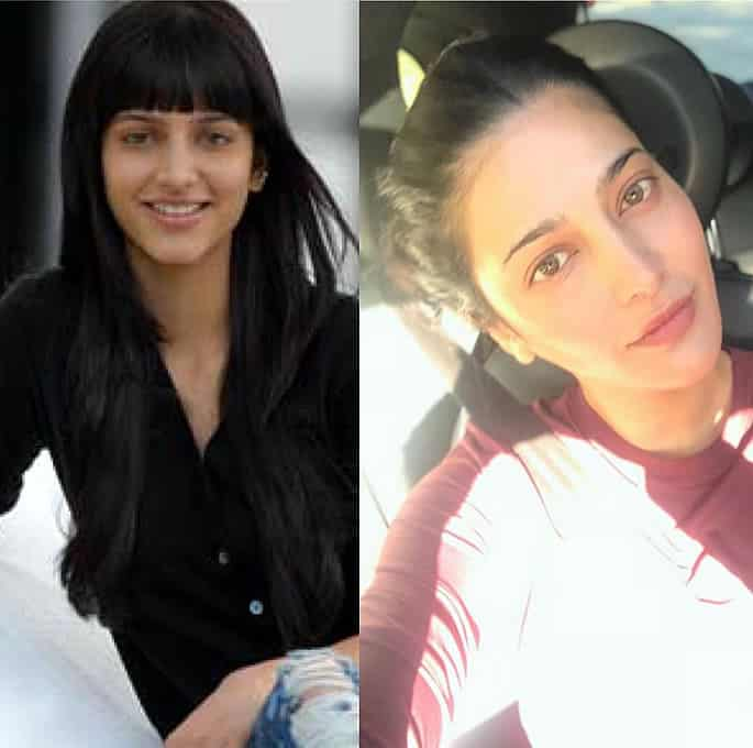 Bollywood Stars who took up the #10yearchallenge - Shruti Hassan