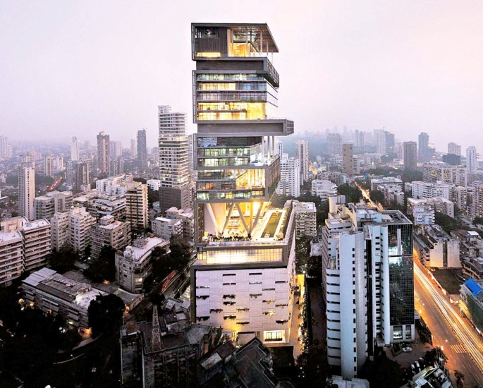 Extravagant Things owned by Mukesh Ambani - antilla