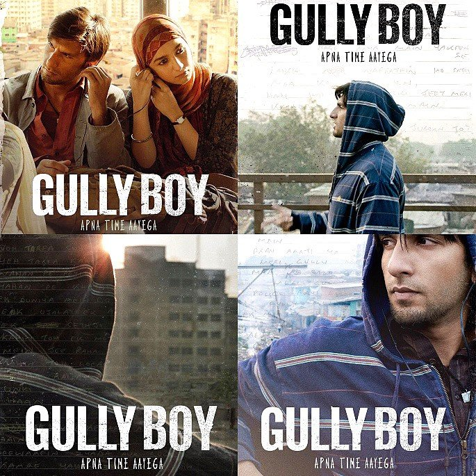 Gully Boy: Ranveer Singh will Rap the Hearts & Minds of Millions - Gully Boy Film Posters