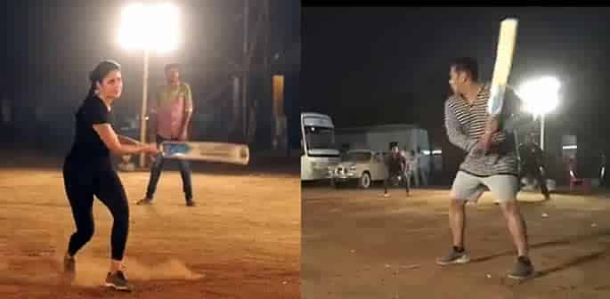 Katrina Kaif and Salman Khan hit 'Sixes' playing Cricket ft