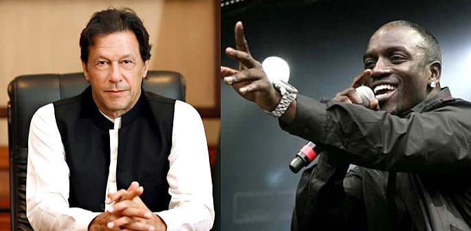 Music star Akon sends a Special Message to Pakistan PM f