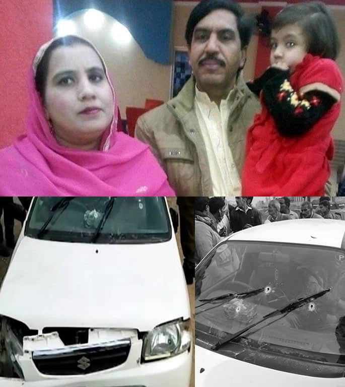 Pakistani Terror Police kill Parents and Teenage Daughter - Car