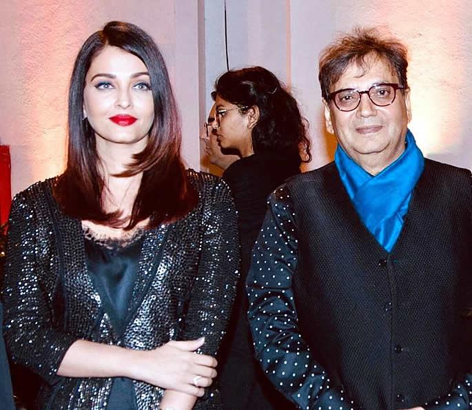 Salman and Aishwarya attend Subhash Ghai Birthday Party - Ash